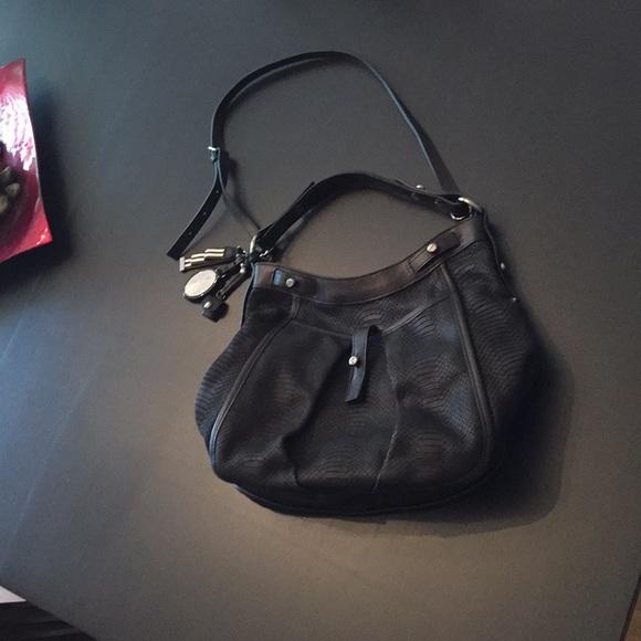 henri bendel Bags   Ny Hobo Snake Embossed Leather Bag   Poshmark 65a53b0f4a